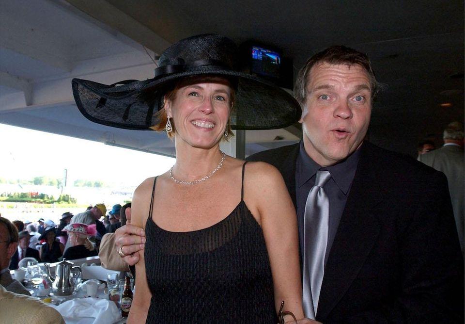 Singer Meat Loaf and his fiancee, Deborah Gillespie,