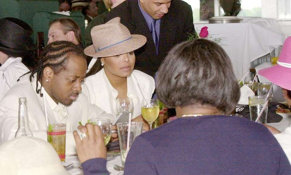 Singer Janet Jackson and her family and friends