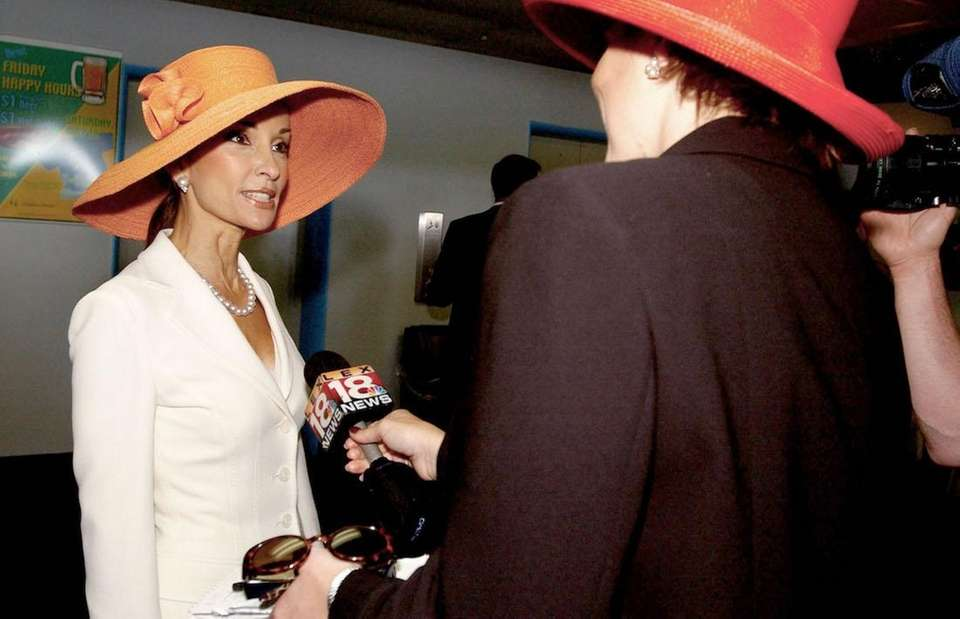 Actress Susan Lucci is interviewed by the local