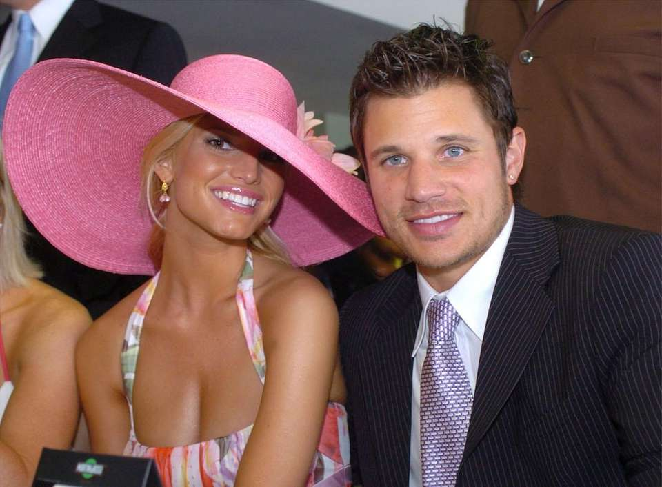 Jessica Simpson and Nick Lachey attend the 130th