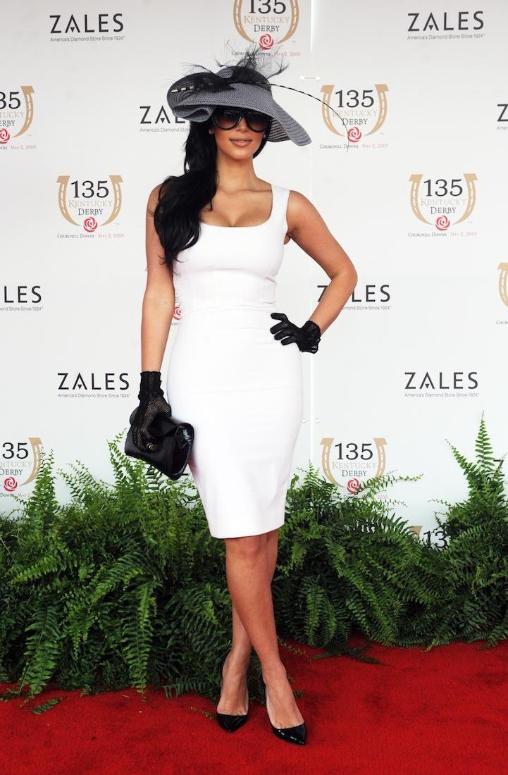 Kim Kardashian arrives at the 135th at Churchill