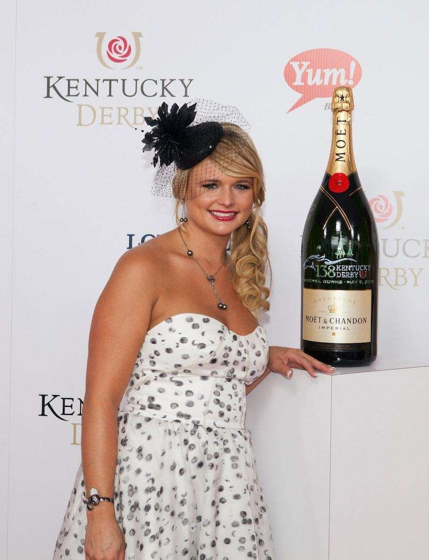 Miranda Lambert signs a limited edition 6 liter
