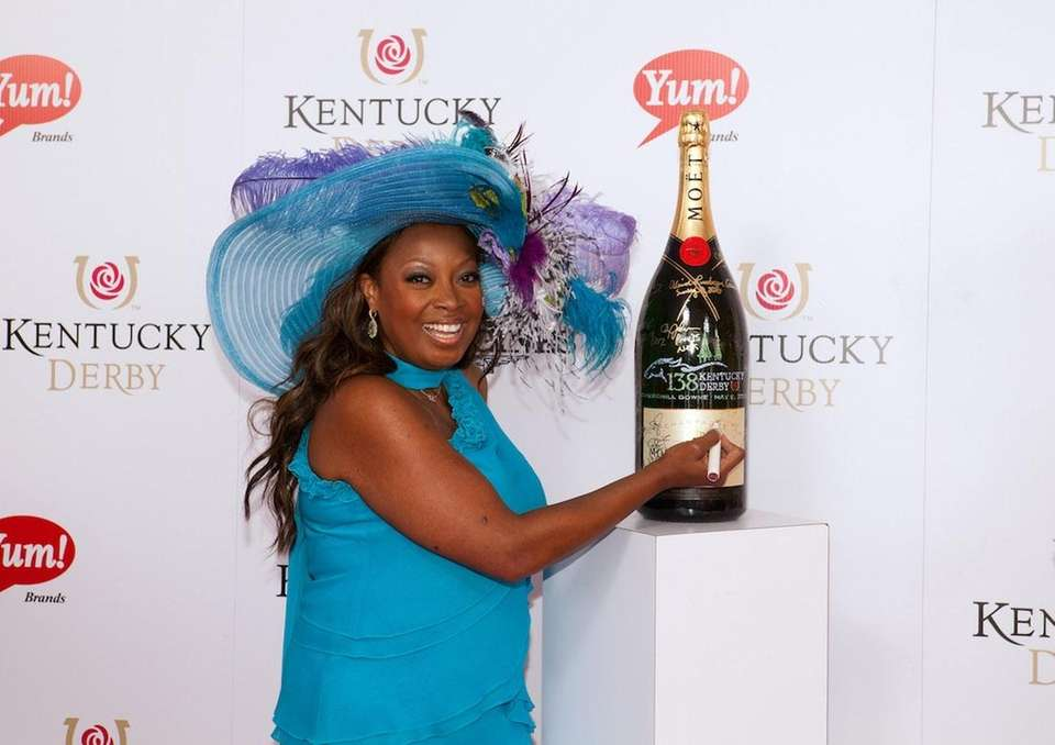 Star Jones signs a limited edition 6 liter