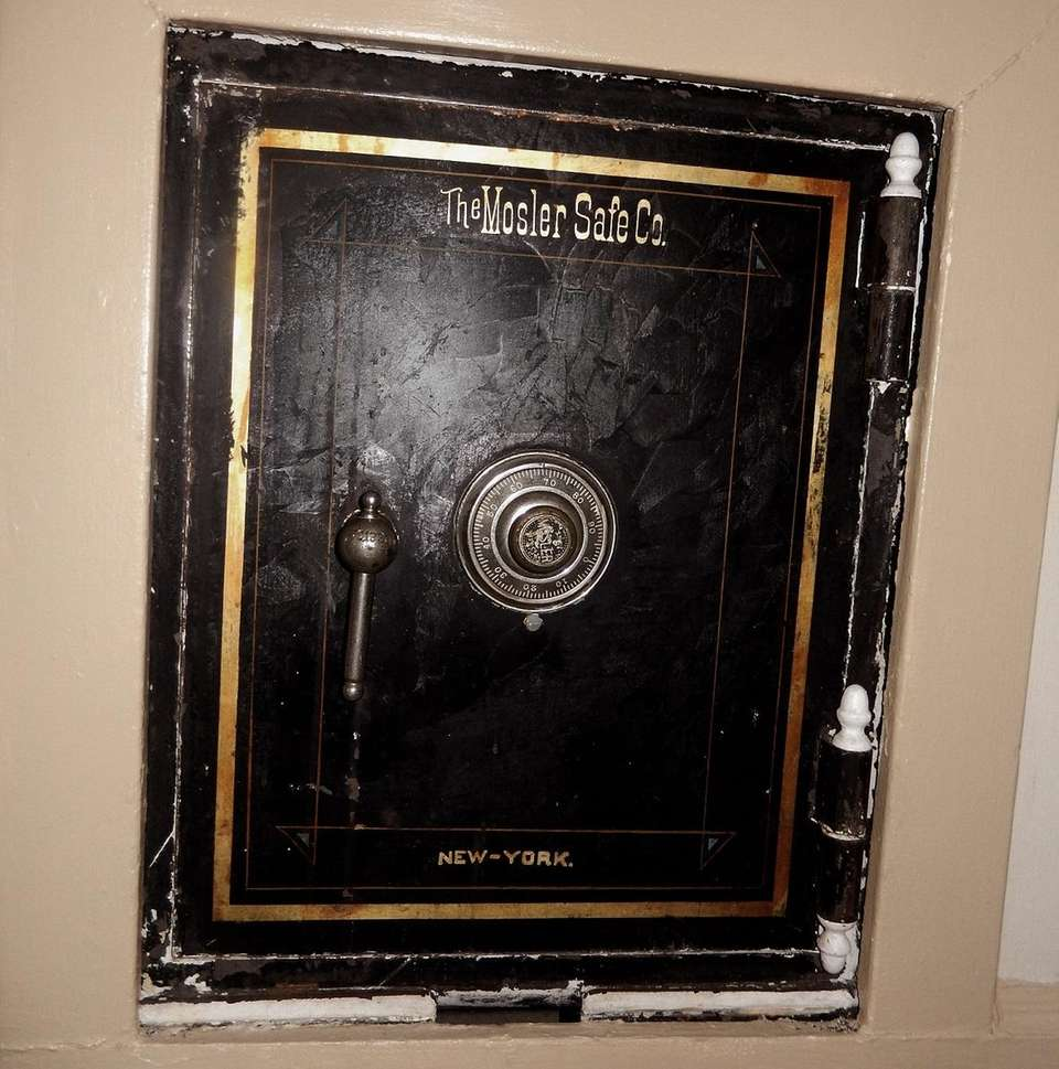 This safe near the servants' quarters and kitchen
