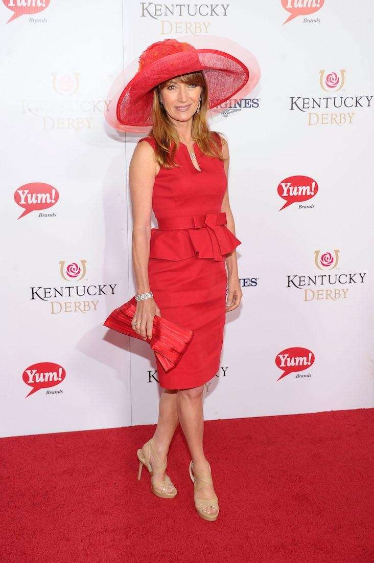 Actress Jane Seymour attends the 139th running of