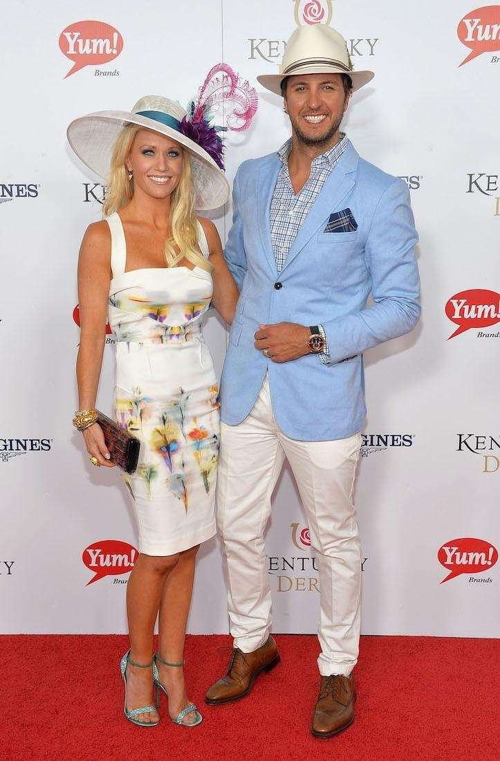 Singer Luke Bryan and wife Caroline Boyer celebrate