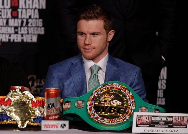 Boxer Saul 'Canelo' Alvarez from Mexico looks