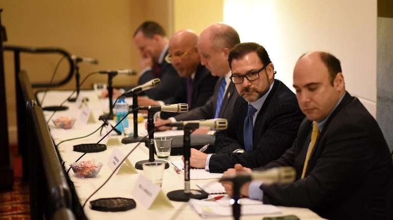 Adam Barsky, second from right, new chairman of