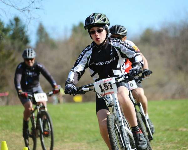 Mountain bikers ride in the Bicycle Planet MACHO