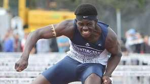 Huntington's Infinite Tucker wins the 110-meter high hurdles