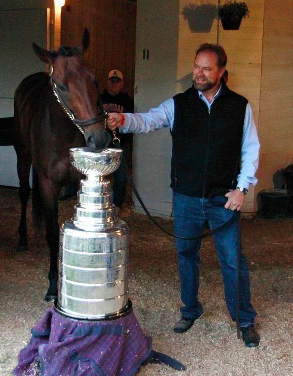 Kentucky Derby entrant Nyquist and trainer Doug O'Neill