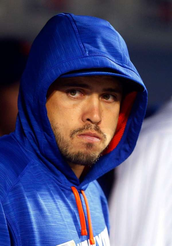 Travis d'Arnaud of the New York Mets looks
