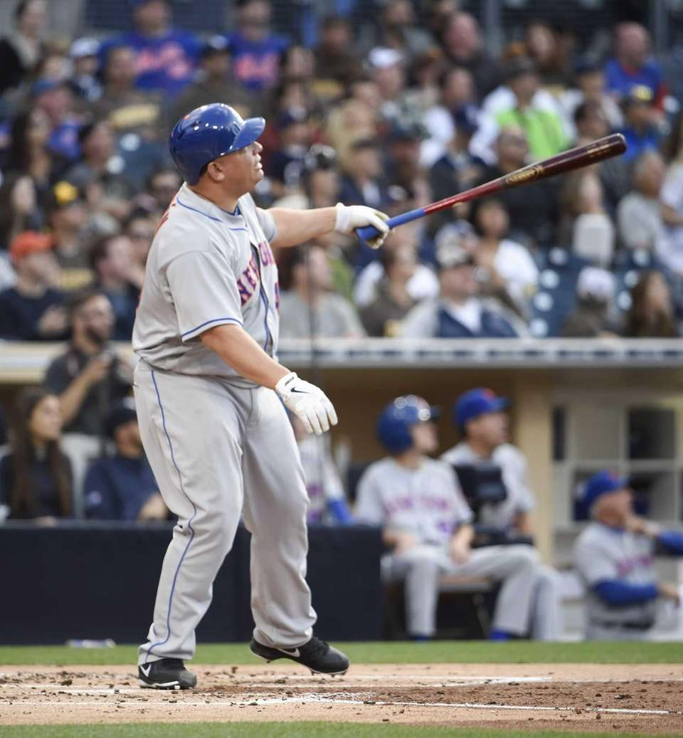 Bartolo Colon of the New York Mets hits