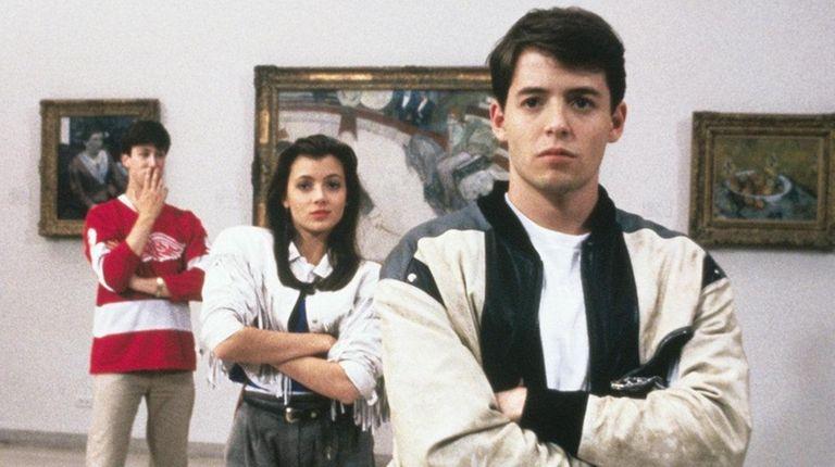 Alan Ruck, left, Mia Sara and Matthew Broderick