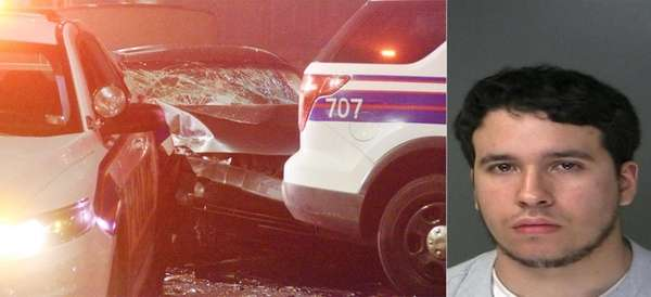 Jonathan Kunstadt, right, was charged with driving while
