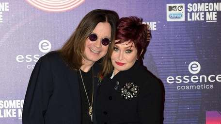 English singer Ozzy Osbourne and his wife Sharon