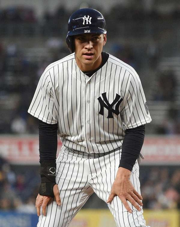 New York Yankees center fielder Jacoby Ellsbury stands