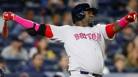 David Ortiz #34 of the Boston Red Sox
