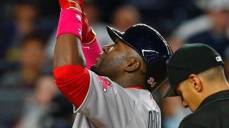 David Ortiz #34 of the Boston Red Sox