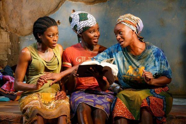 Pascale Armand, left, Lupita Nyong'o and Saycon Sengbloh,