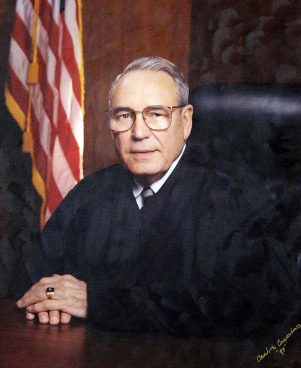A portrait of Judge Harry Kutner Sr. hangs