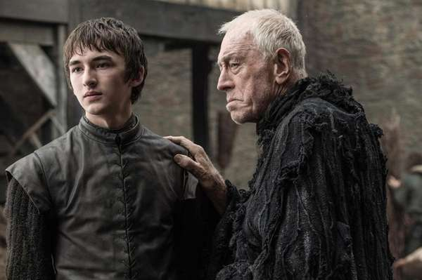 Isaac Hempstead Wright, left, andMax von Sydow in