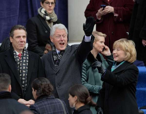 Gov. Andrew M. Cuomo, President Bill Clinton and