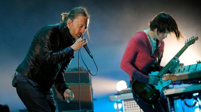 Thom Yorke of Radiohead performs at the Glastonbury