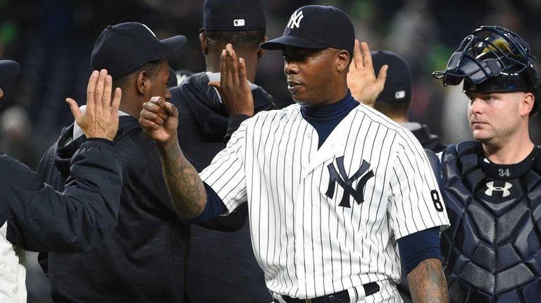 New York Yankees manager Joe Girardi, relief pitcher