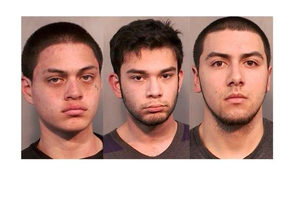 From left, Angel Irizarry, 18, Andrew Schneider, 18,