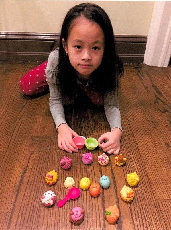 Kidsday reporter Kaylen Zheng with her Num Noms