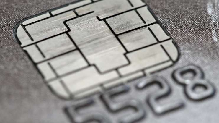 A chip credit or debit card in Philadelphia