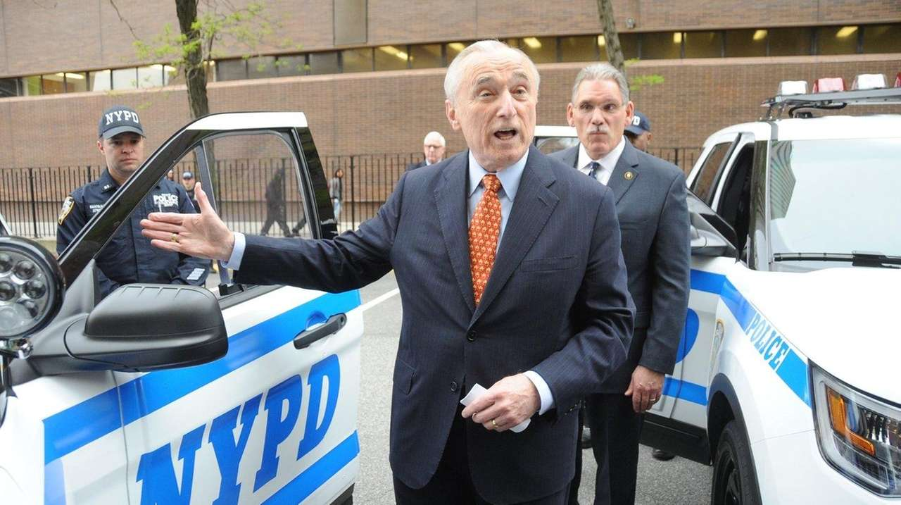 Police Commissioner William J. Bratton, with Deputy Chief