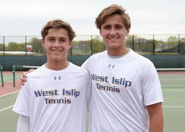 West Islip's Marty Racanelli, left, beat his twin