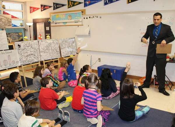 Fourth-graders at South Salem Elementary School learn how