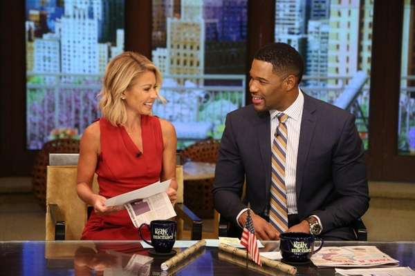 Kelly Ripa and Michael Strahan are pictured during