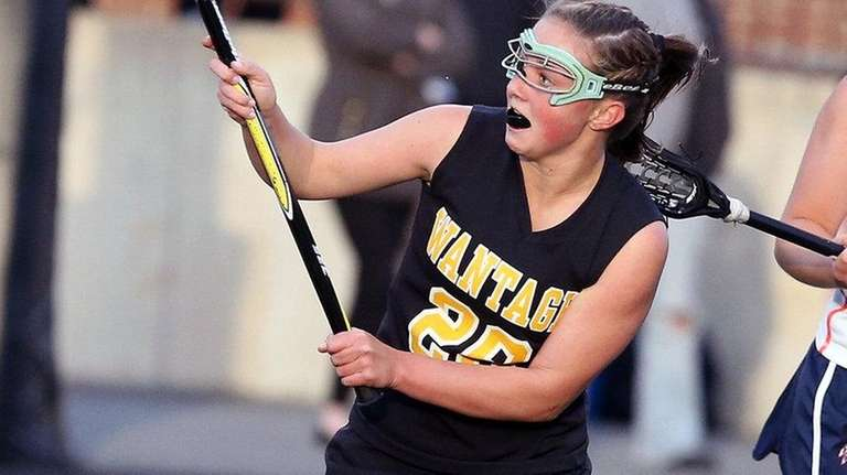 Wantagh's Ally Murphy scores one of her three