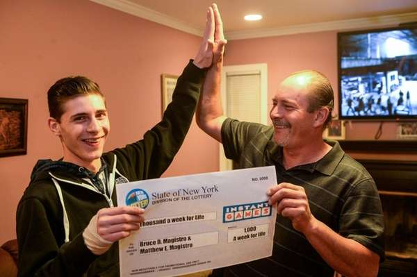 Bruce Magistro and his son, Matthew, of Lindenhurst,