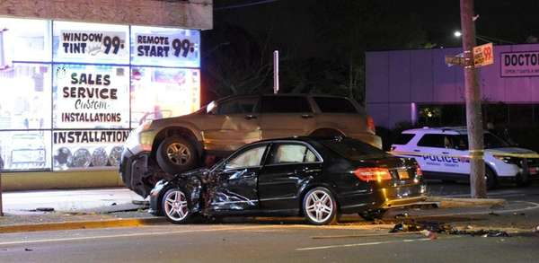 Nassau County police investigate a fatal accident that