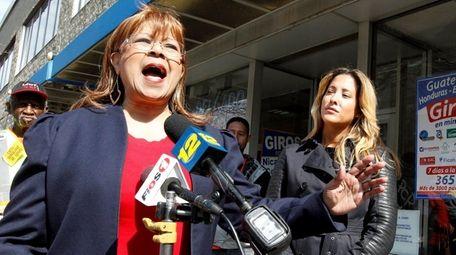 Phyllis Pruitt, left, and Melissa Figueroa, both candidates