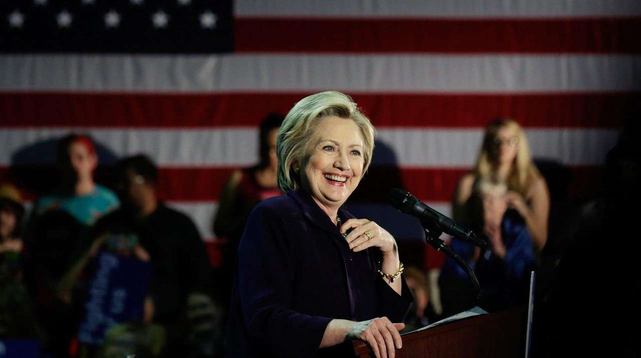 Hillary Clinton, at a campaign rally at Camden