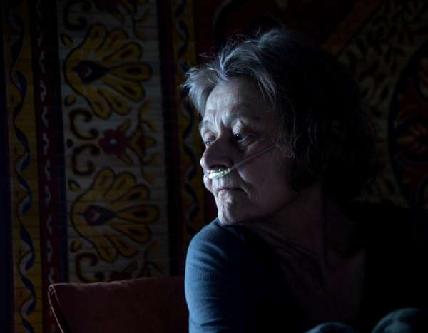 Rosalee Grable is seen in her apartment on