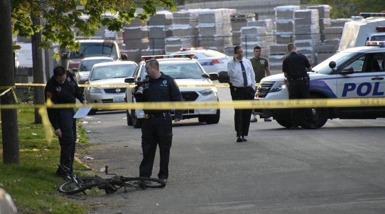 Suffolk police said a bicyclist was killed Wednesday,