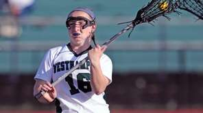 Westhampton's Hailey Daleo #16 Scores a goal during