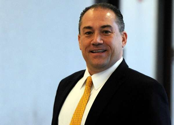 Attorney Robert Macedonio at Suffolk County Courthouse in