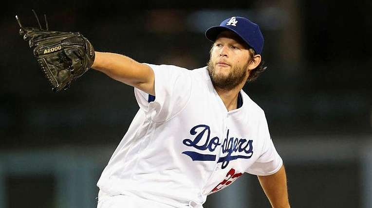 Clayton Kershaw #22 of the Los Angeles Dodgers