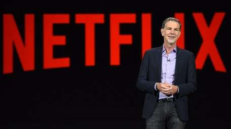 Netflix CEO Reed Hastings speaks at the consumer