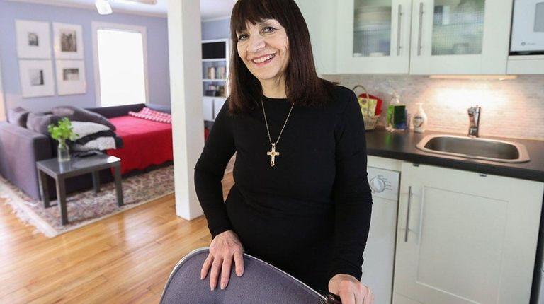 Rosanne Washington in the Sea Cliff studio apartment