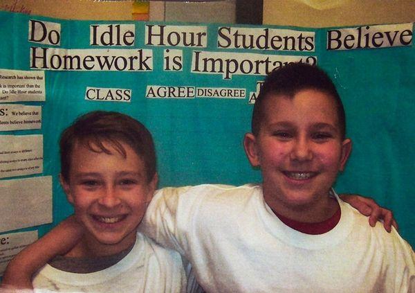 Kidsday reporters Aodhan McGuinness, left, and Christopher Schlomann