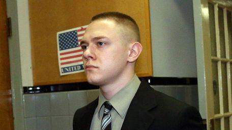 Cory Gloe leaves Nassau County Court in Mineola